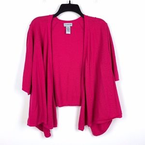 Catherines 5X Cropped Cardigan Open Waterfall